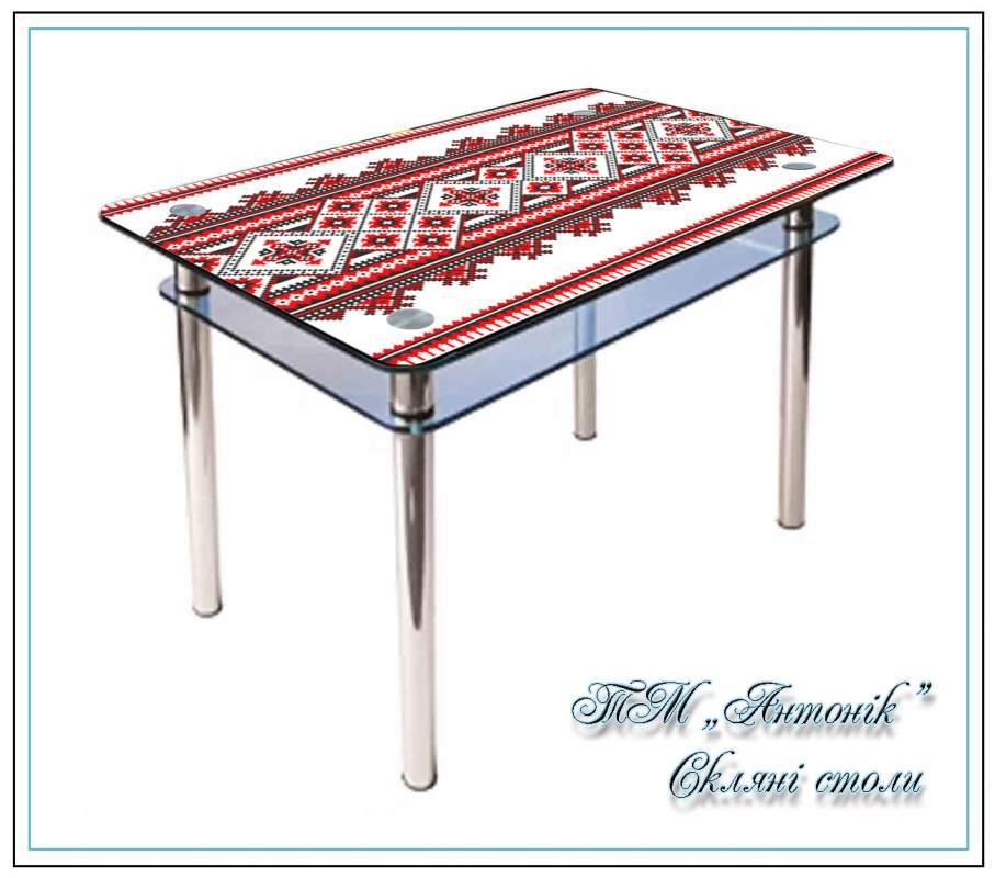 Купить Кухонный стол Кс-1 №179 с фотопечатью на металлических опорах