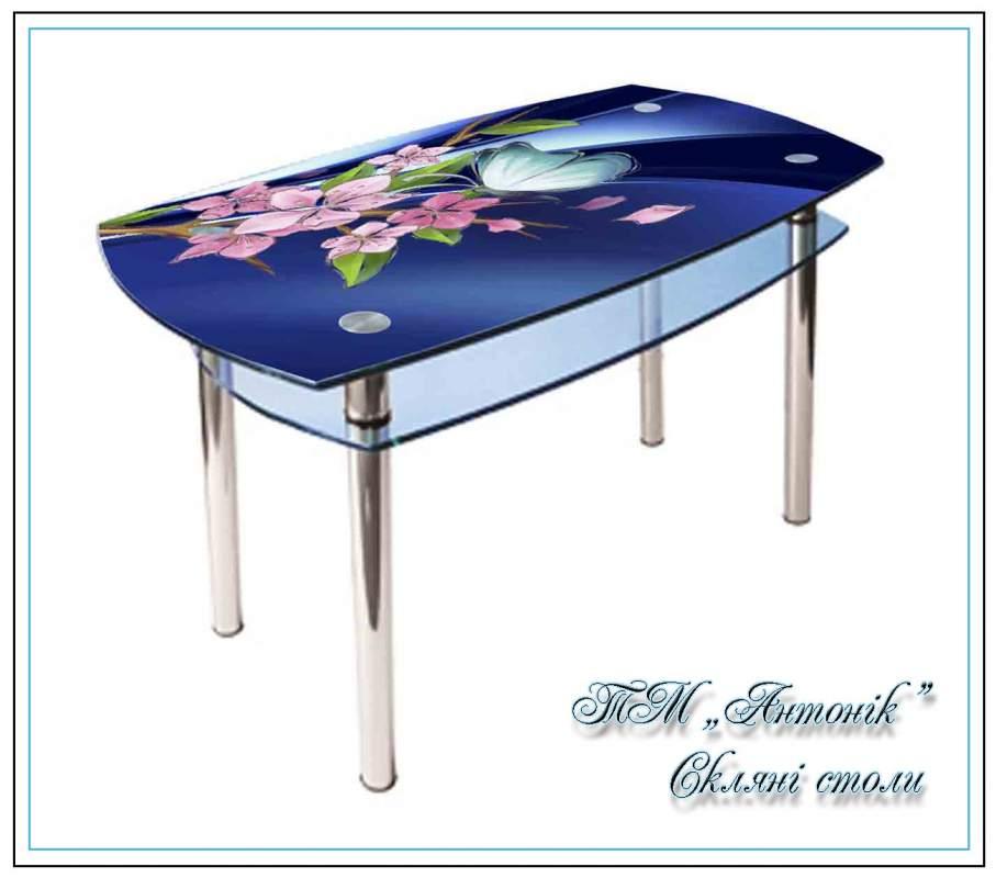 Купить Кухонный стол Кс-2 №81 с фотопечатью на металлических опорах