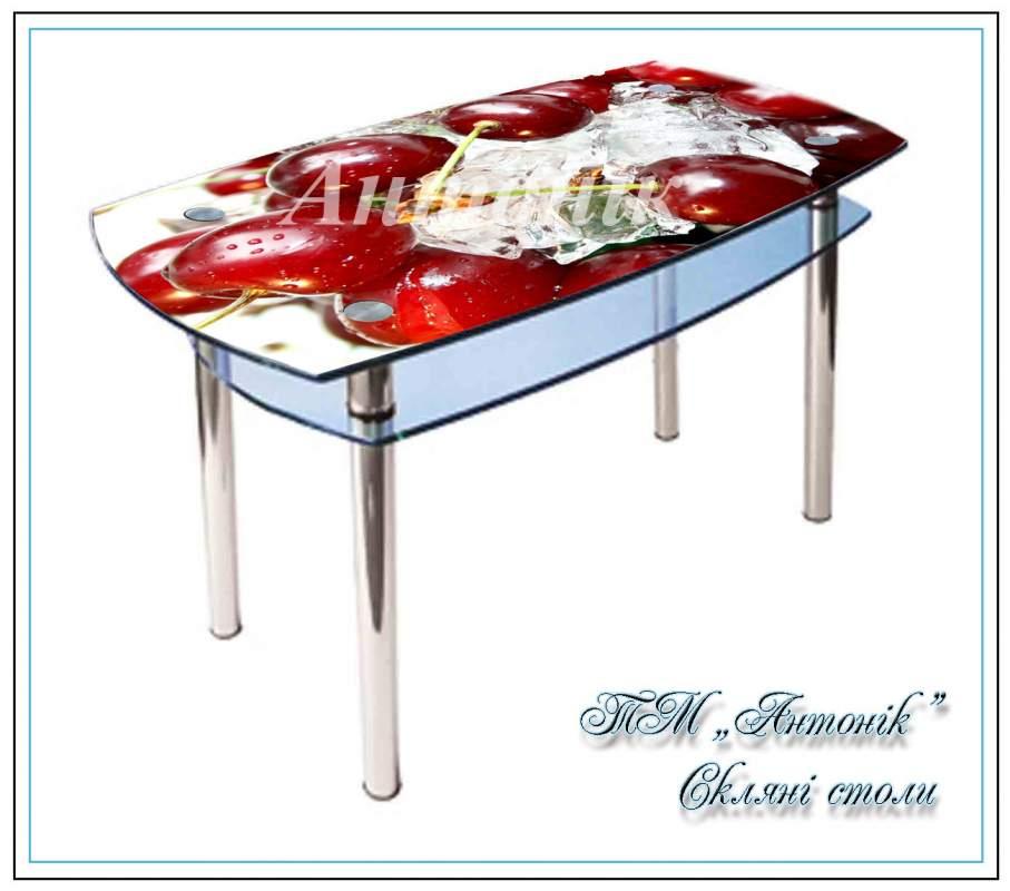 Купить Кухонный стол Кс-2 №186 с фотопечатью на металлических опорах