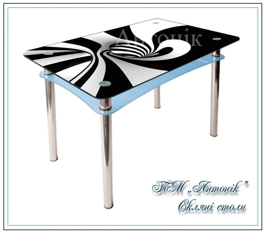 Купить Кухонный стол Абрис №171 с фотопечатью на металлических опорах