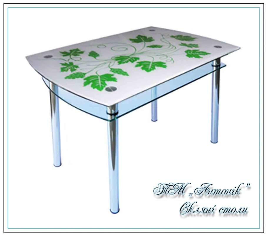 Купить Кухонный стол Кс-4 виноград с покраской на металлических опорах