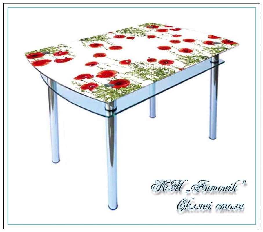 Купить Кухонный стол Кс-4 №118 с фотопечатью на металлических опорах