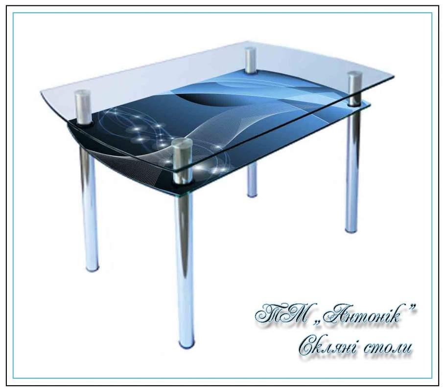 Купить Кухонный стол Кс-4 №90 с фотопечатью на металлических опорах
