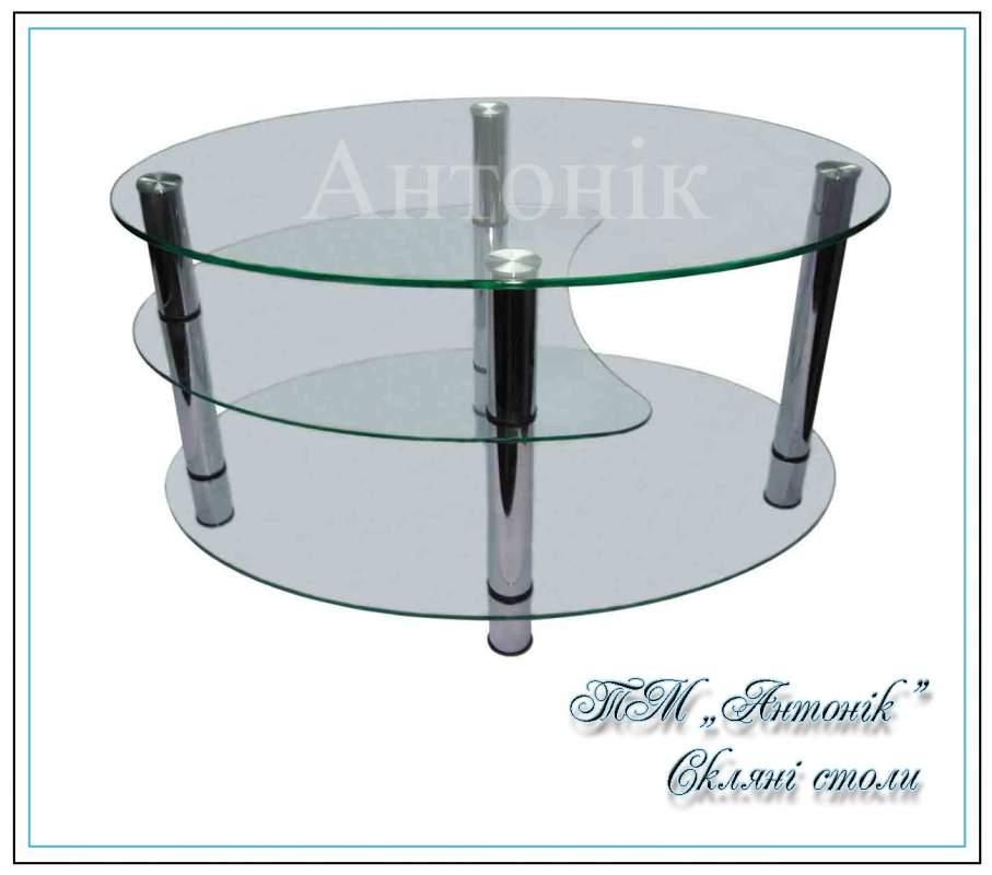 Купить Журнальный стол ст-404 прозрачный на металлических опорах
