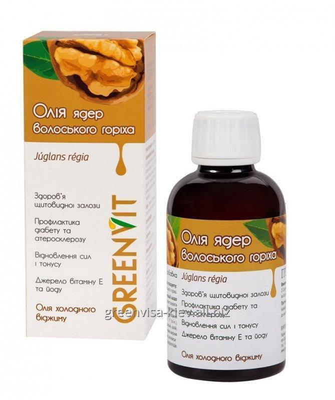 Buy Oil of WALNUT of 200 ml from Green Visa - the all-strengthening means, a source of vital forces