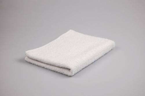 Купить Полотенце гладкокрашенное (белое), 40х70см