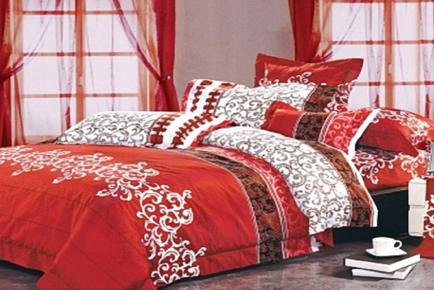 Купить Постельное белье ранфорс Вилюта 8630 красный