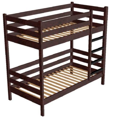 Кровать детская деревянная двухъярусная 900 х 1900 мм