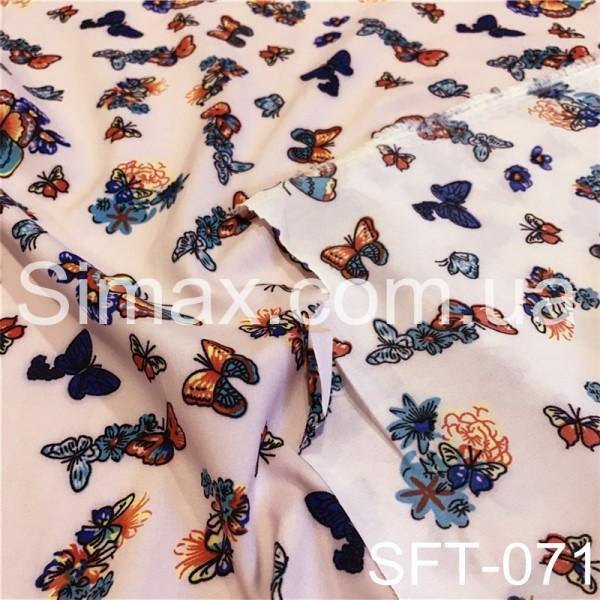 Купить Ткань вискоза Soft принт, вискозная ткань, вискоза трикотаж, Код: SFT-071
