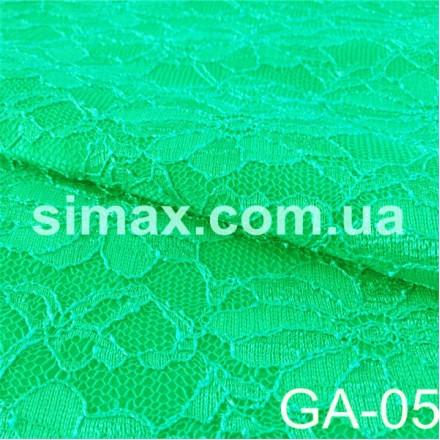 Купить Атлас-гипюр GA-05 Зеленая бирюза