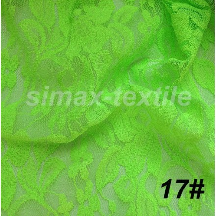 Купить Гипюровая стрейчевая ткань, Код: 17 Салатовый