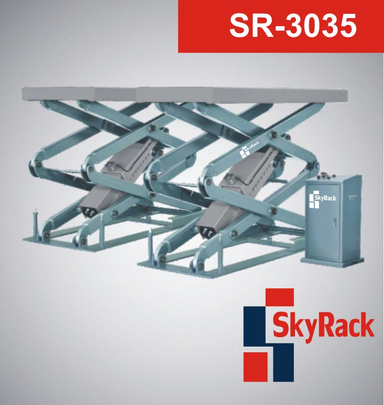 Купить Ножничный электрогидравлический подъемник SkyRack SR-3035 Basic