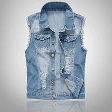 Купить Мужские джинсовые жилетки