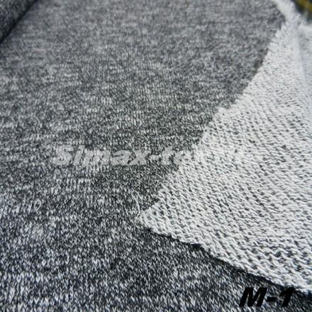 Купить Ткань двунитка натуральная черная , Код: М-1