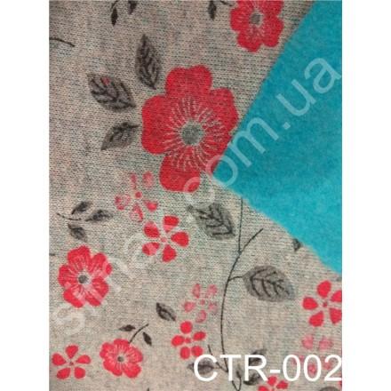 Купить Двунитка натуральная с начесом Принт Модель:СТR-002