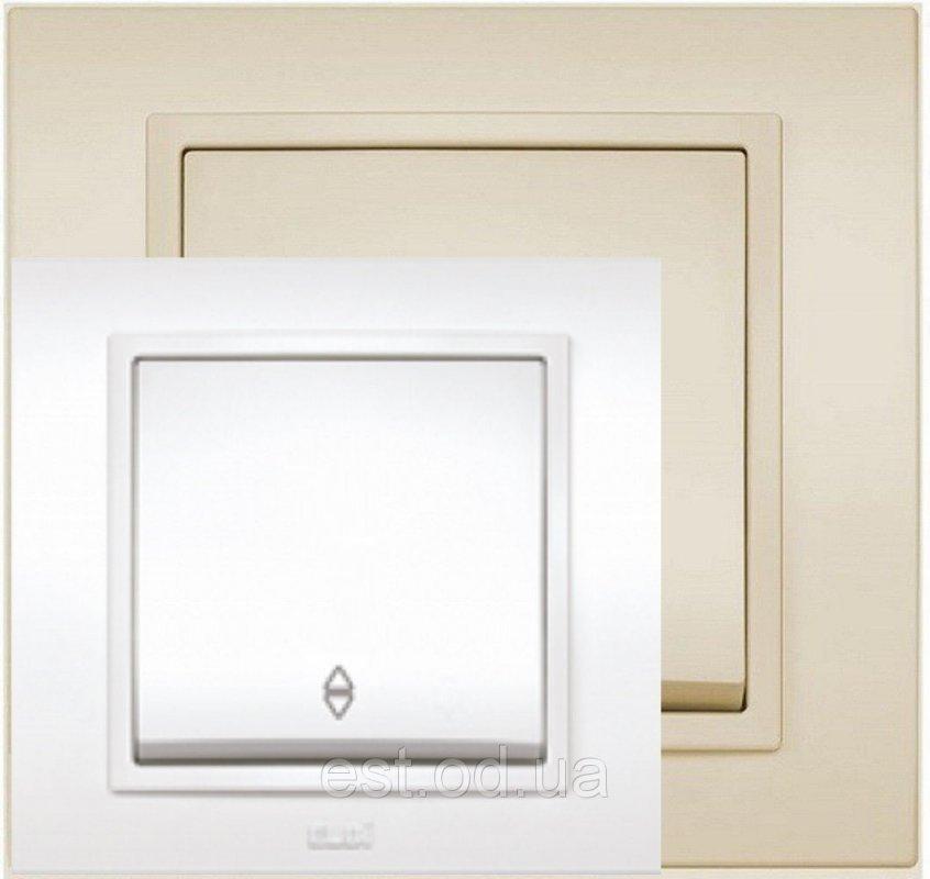 Купить Выключатель промежуточный белый, крем El-Bi Zena