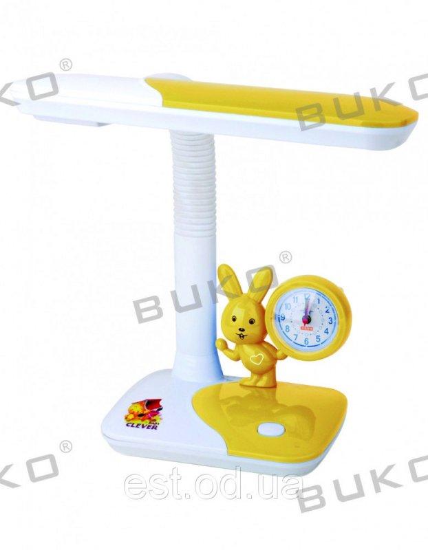 Купить Детская настольная лампа с часами 11W WATC желтая