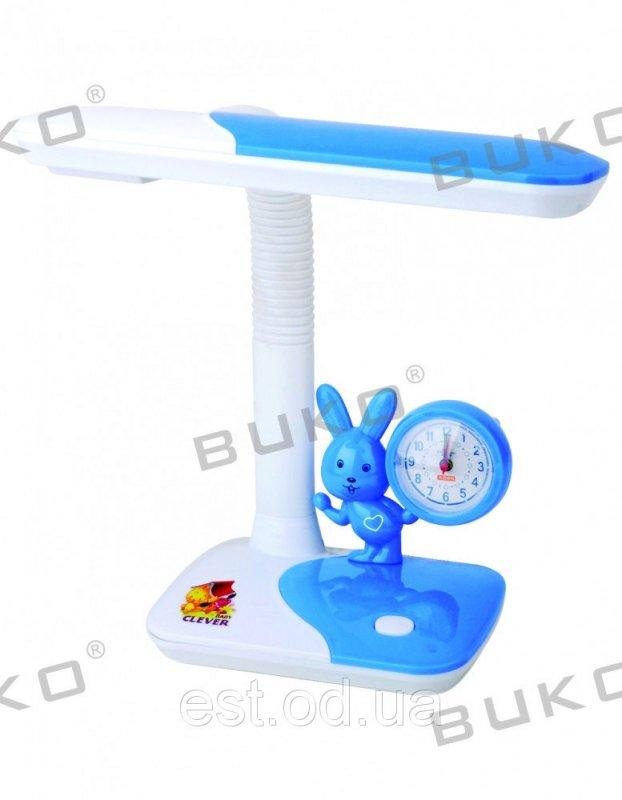 Купить Детская настольная лампа с часами 11W WATC синяя