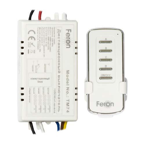 Купить Дистанционный выключатель света 4 канала 1000W 30M Feron