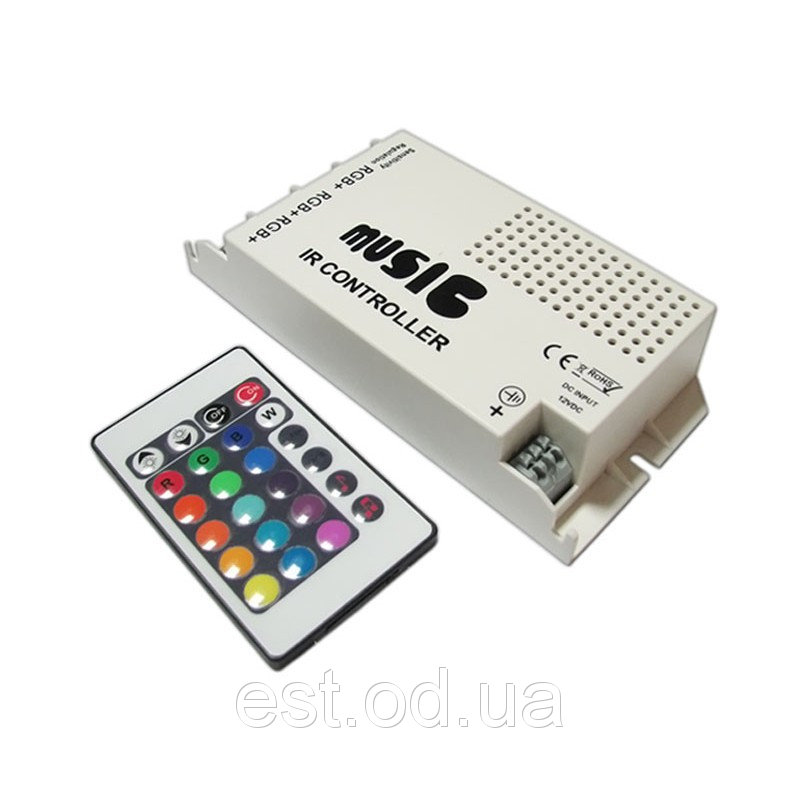 Купить Контроллер RGB 288Вт 24А с ИК пультом Д/У ProfiLED