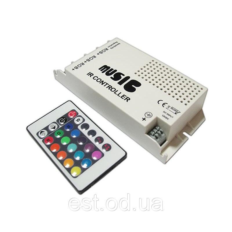 Купить Контроллер RGB music 108Вт 9А с ИК пультом Д/У BIOM