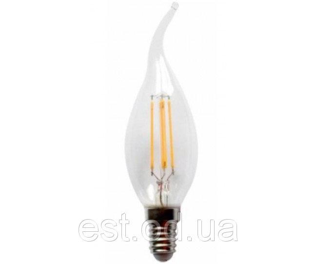 Купить Лампа светодиодная свеча на ветру филамент Led C35T 4W Е14 3000 Lemanso