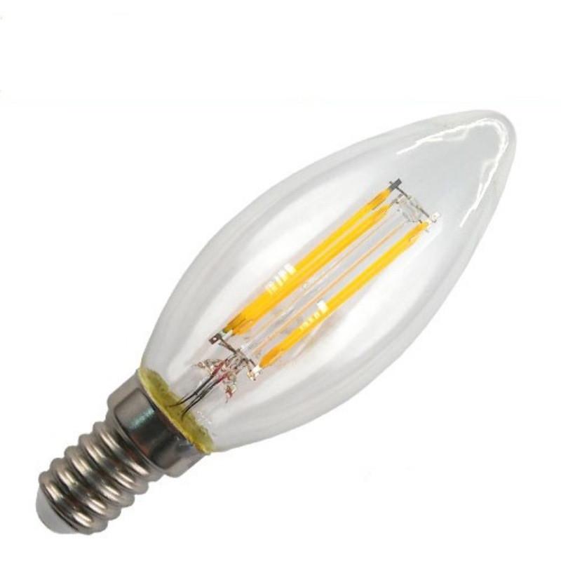 Купить Лампа светодиодная филамент Led С35 2W Е14 4000 LEDEX