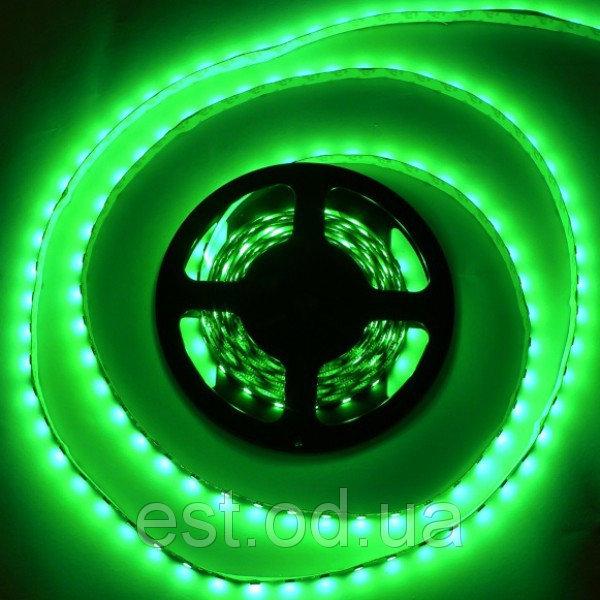 Купить Лента светодиодная SMD3528 60LEDх4LM 4,8W влагозащищенная зеленая