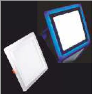 Купить Потолочный светодиодный светильник квадратный с синей подсветкой 18+6W 4500K Lemanso