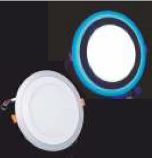Купить Потолочный светодиодный светильник круглый с синей подсветкой 3+3W 4500K Lemanso
