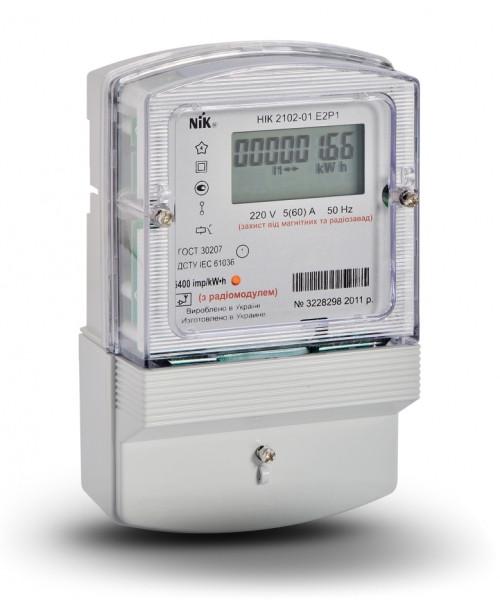 Купить Счетчик электроэнергии однофазный многотарифный НИК 2102-01.Е2Т