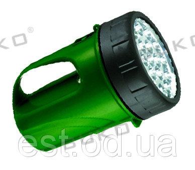 Купить Фонарь аккумуляторный, зеленый 19LED WATC WT297