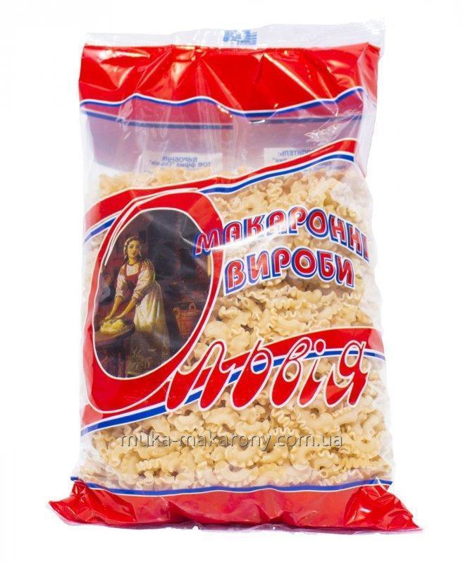 Макароны Гребешки 1 кг «Ольвия Микс»