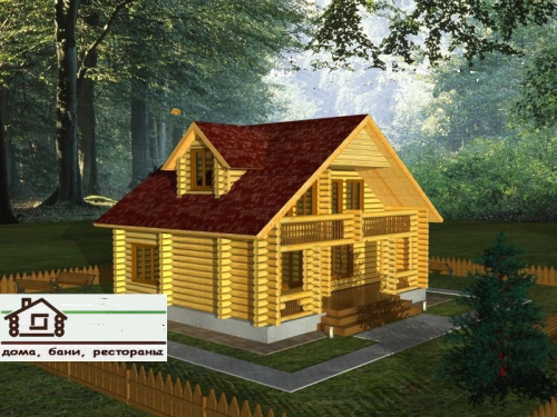 Дом со сруба площадью 100 м2