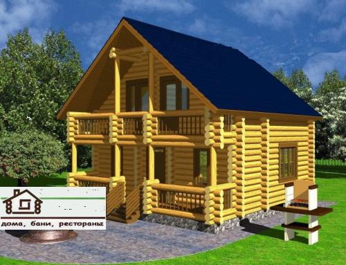 Купить Проект дома со сруба площадью 105 м2
