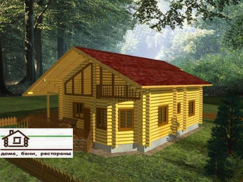 Интерьер деревянного дома под заказ