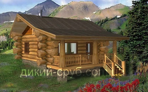 Купить Проект дома с дерева (Дикарь-60)