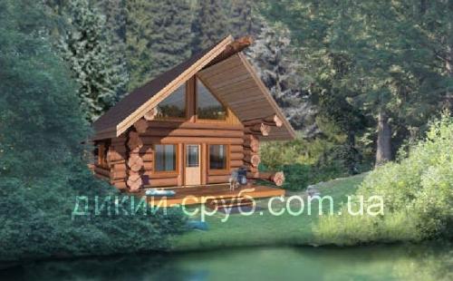 Купить Проект загородного дома из дерева (70м2)