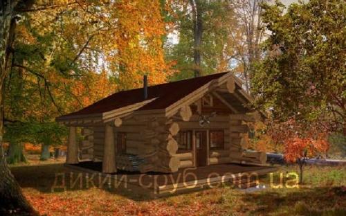 Купить Дом с дикого сруба дачный