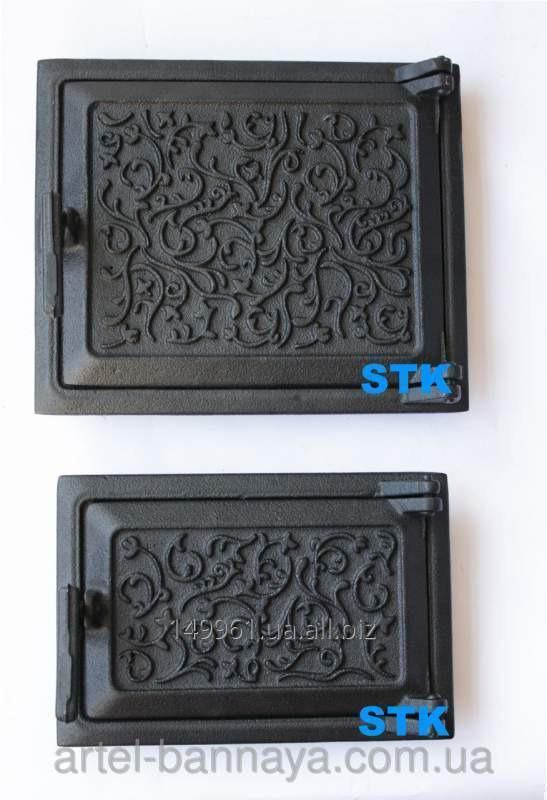 Дверца чугунная ( комплект - топочная , поддувало) (STK СЧ-54)
