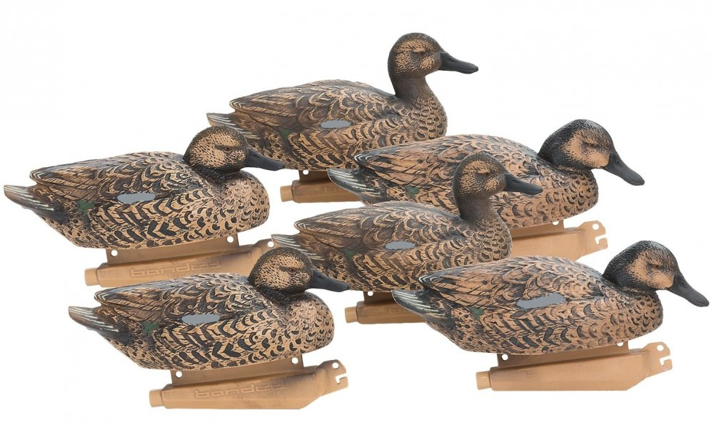 Чучела чирков Banded® Blue Winged Teal Floating Decoys 6-Pack Hens