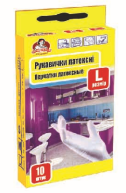 Перчатки латексные TM Помощница, 10 шт,  размер 7 (М)