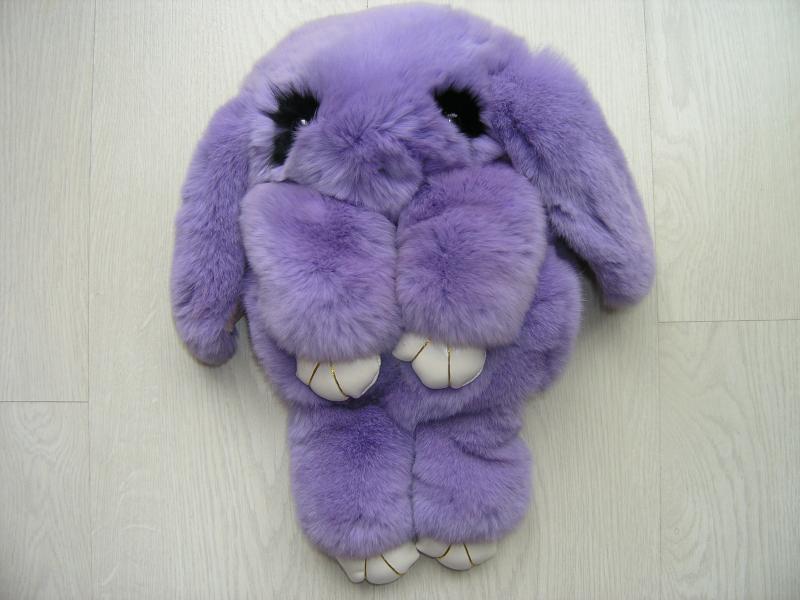 Сумка-игрушка Кролик в  фиолетовом цвете
