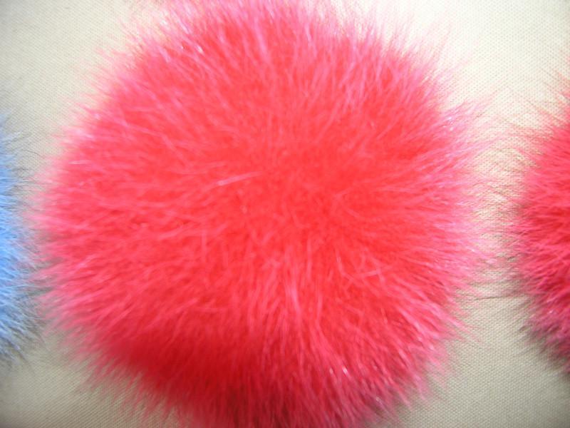 Бубоны цветные из меха кроля