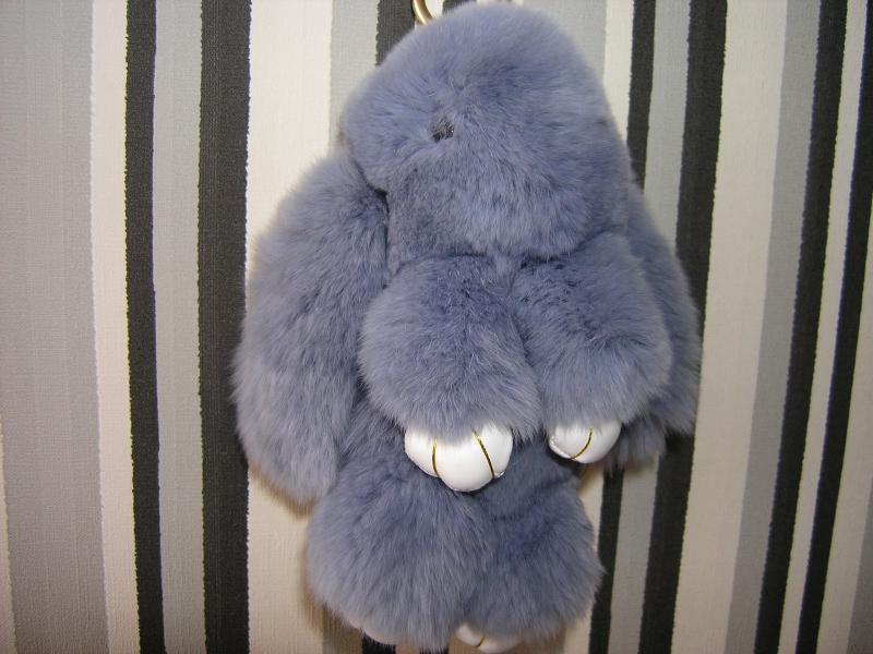 Брелок кролик цвет серый