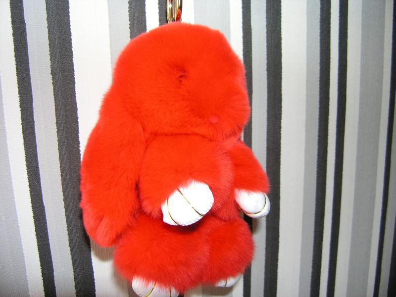 Брелок кролик красный