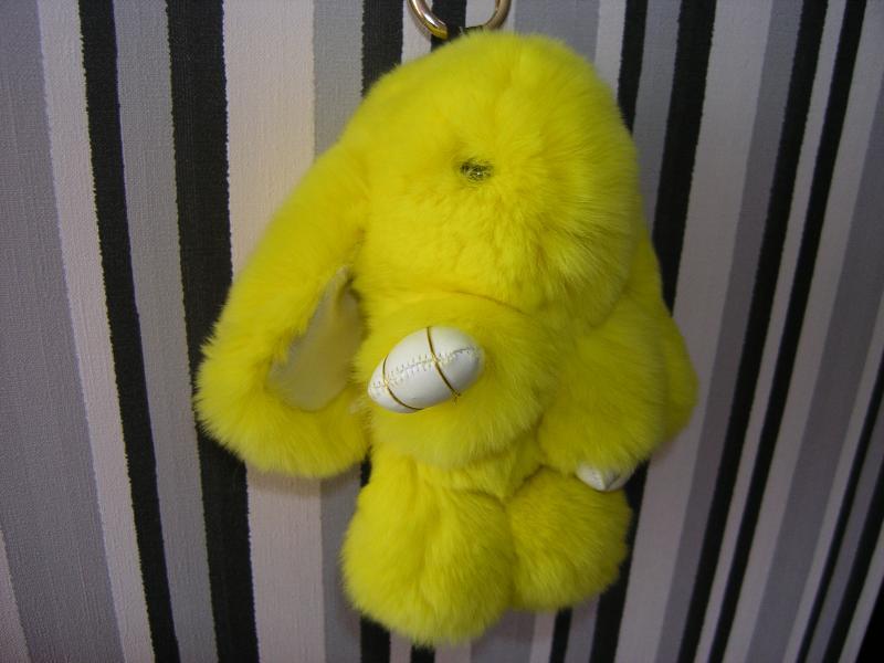 Брелок кролик желтый