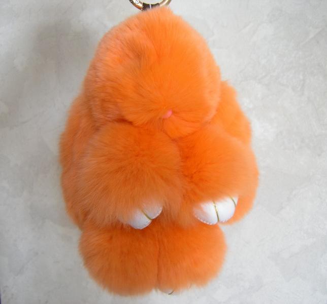 Брелок кролик персик
