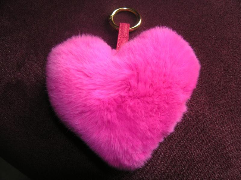 Брелок сердце малиновое