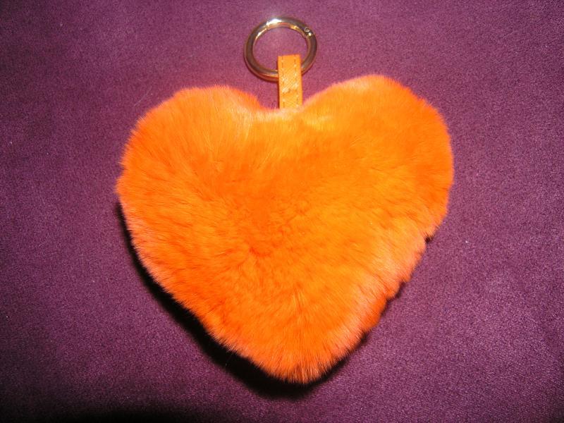 Брелок сердце оранжевое